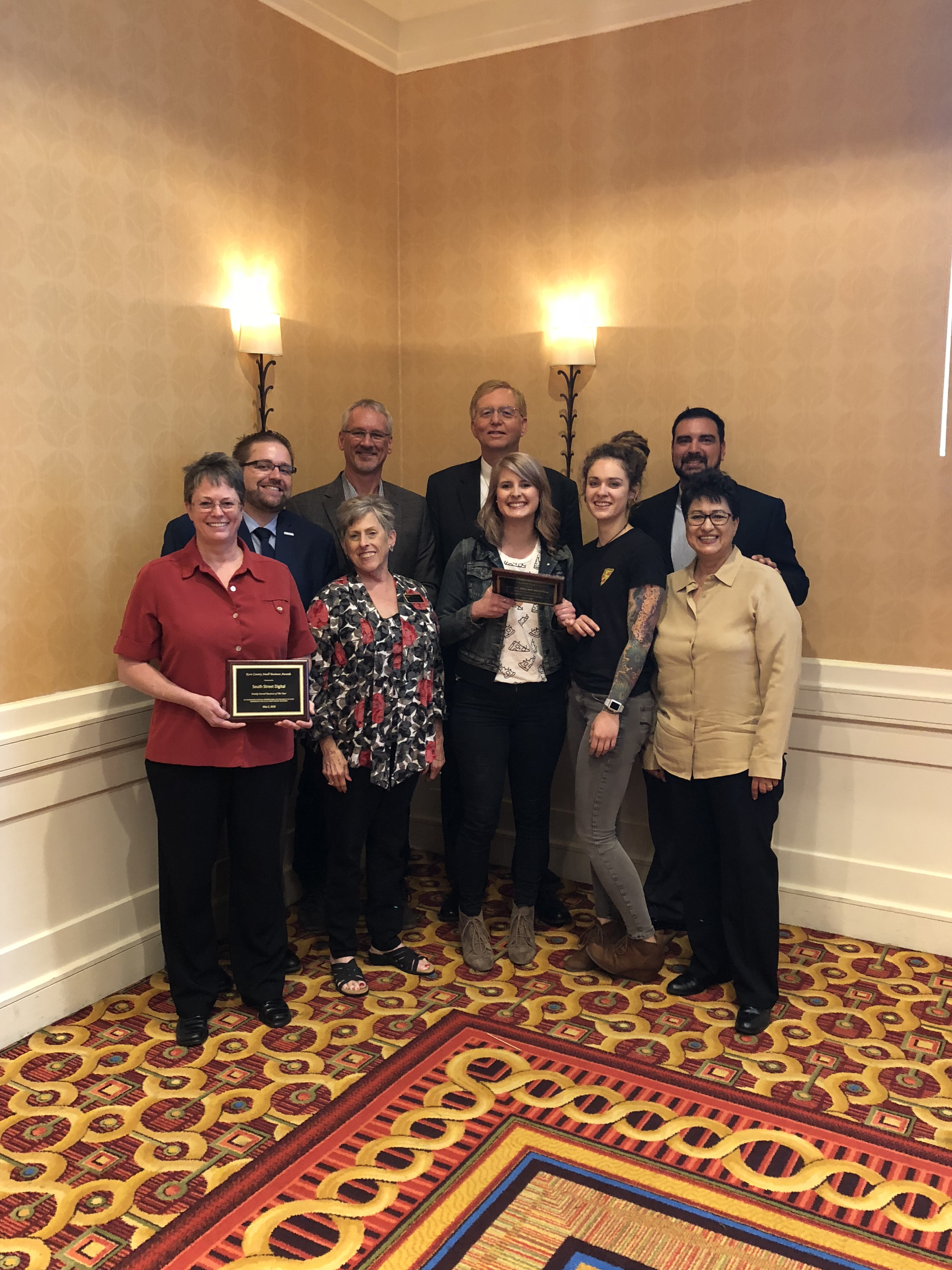 Group holding the SBDC award