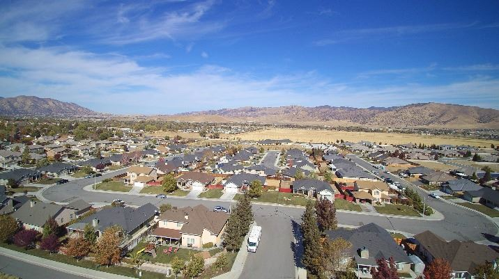 Drone Picture of Heritage Oaks Housing