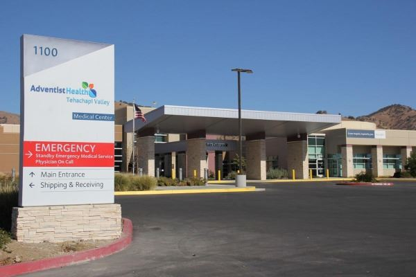 Front of Adventist Health Tehachapi Valley
